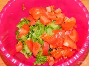 Яблочный салат с зеленью - фото шаг 2