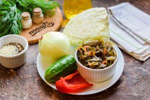 Салат с морской и пекинской капустой - фото шаг 1