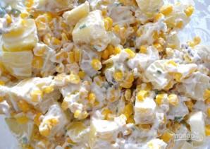 Салат из картофеля и кукурузы - фото шаг 6