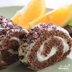 Шоколадно-апельсиновый рулет - фото шаг 11