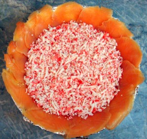 Рыбный торт-салат - фото шаг 5