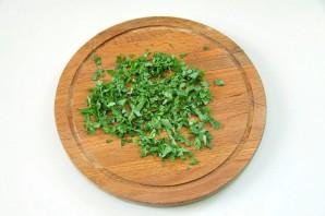 Салат с баклажанами и грецкими орехами - фото шаг 3