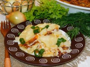 Картофельно-сливочная запеканка с луком - фото шаг 7