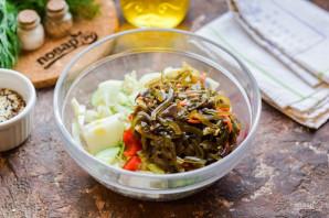 Салат с морской и пекинской капустой - фото шаг 5