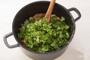 Конвертики с фаршем и фасолью в лаваше - фото шаг 5