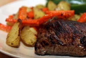 Ромштекс с овощами - фото шаг 3