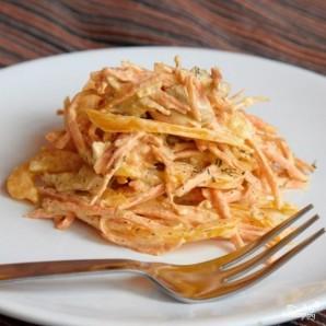 Салат с курицей, перцем и морковью - фото шаг 4
