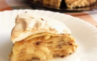 Блинный пирог с яблоками - фото шаг 8