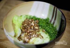 Салат со свежими огурцами - фото шаг 7