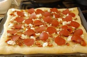Пицца с томатами и козьим сыром - фото шаг 5