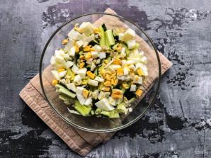 Салат с пекинской капустой и мидиями - фото шаг 4