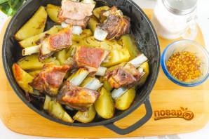 Козлятина в духовке с картошкой - фото шаг 5
