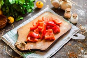Помидоры соленые с болгарским перцем - фото шаг 3