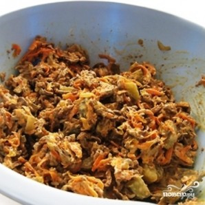 Салат из говяжьей печени - фото шаг 3