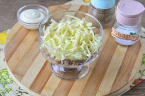 Салат с сайрой и яблоком - фото шаг 3