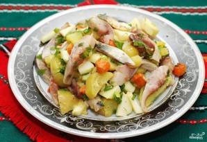 Салат с селедкой - фото шаг 9