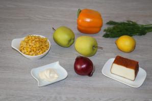 Салат с яблоком и болгарским перцем - фото шаг 1