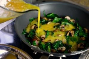 Фриттата из шпината и грибов - фото шаг 10