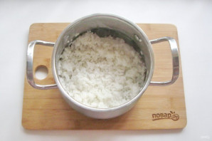 Рис с креветками и кальмарами - фото шаг 7