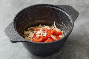 Овсяная каша с помидорами и сыром - фото шаг 5