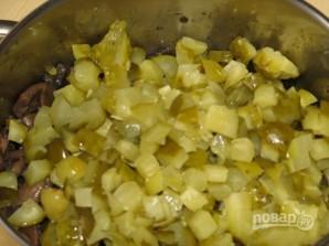 Салат из жареных шампиньонов - фото шаг 5