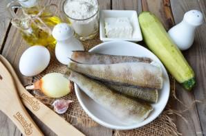 Рыбные котлеты с творогом и кабачками - фото шаг 1