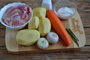 Тушеная утка с картошкой - фото шаг 1