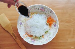 Китайский салат с крахмальной лапшой - фото шаг 7