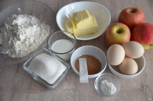 Итальянская шарлотка с яблоками - фото шаг 1