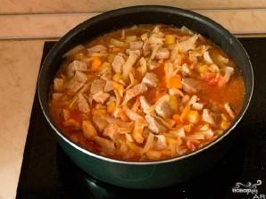 Овощное рагу с мясом и картошкой - фото шаг 4