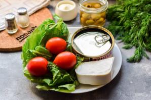 Салат с тунцом и фетой - фото шаг 1