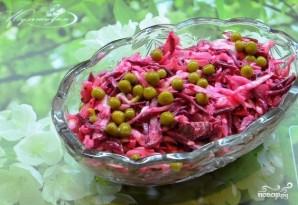 Салат из свежей капусты с зеленым горошком - фото шаг 4