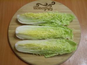 Засолка пекинской капусты по-корейски - фото шаг 2