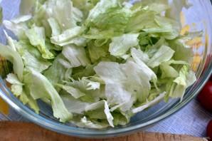 Салат с пряным языком и овощами - фото шаг 3