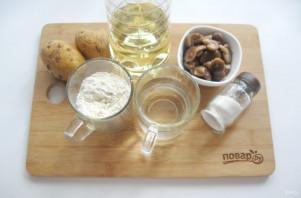 Вареники с солеными груздями и картошкой - фото шаг 1