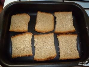 Сухари с чесноком в духовке - фото шаг 4