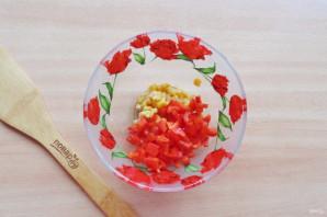 Салат с яйцом и ветчиной - фото шаг 3