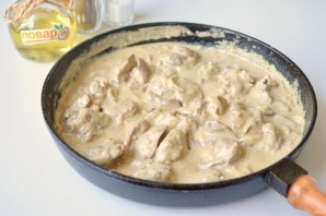 Куриная печень в соусе с карри - фото шаг 6