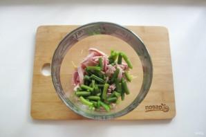 Салат из спаржевой фасоли с ветчиной - фото шаг 3