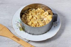 Салат с картофелем, грибами и курицей - фото шаг 3