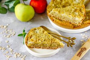 Овсяный пирог с яблоками в мультиварке - фото шаг 8