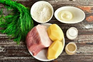 Мясо в картофельной шубке - фото шаг 1