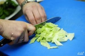 Салат из стручковой фасоли с курицей - фото шаг 11