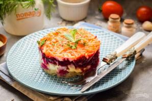 Овощной слоеный салат с майонезом - фото шаг 8