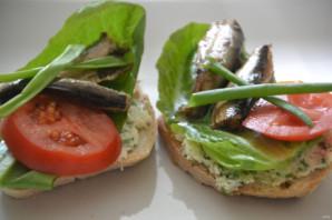 Бутерброды с копченым сыром - фото шаг 11