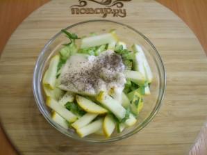 Салат из сырых кабачков - фото шаг 3