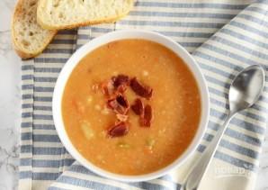 Суп с белой фасолью и беконом - фото шаг 10