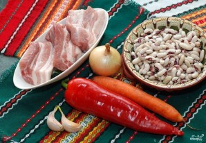 Суп из белой фасоли со свининой - фото шаг 1