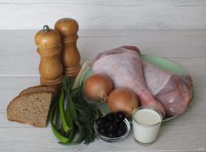 Фаршированная голень индейки в духовке - фото шаг 1