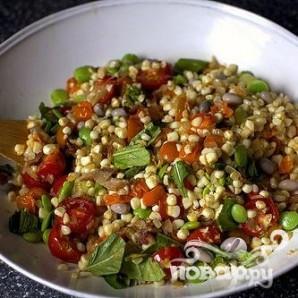 Салат из фасоли, кукурузы и бекона - фото шаг 3